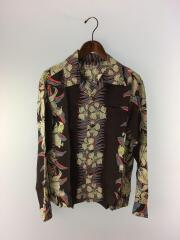 RAYON L/S カトレア・オーキッド CATTLEYA ORCHID/S/レーヨン/BRW/SS27762