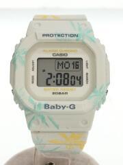 クォーツ腕時計/アナログ/ラバー/GRY/SUMMER FLOWER PATTERN/BGD-560