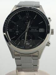 ソーラー腕時計/アナログ/ステンレス/BLK/VR43-KKD0