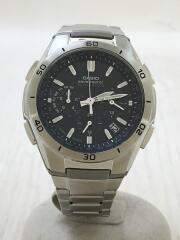 ソーラー腕時計・WAVECEPTOR/アナログ/SLV