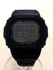 ソーラー腕時計・G-SHOCK/デジタル/ステンレス/BLK/BLK