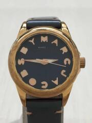 MBM1195/クォーツ腕時計/アナログ/レザー/GRN