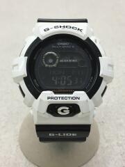 ソーラー腕時計・G-SHOCK/デジタル/ラバー/WHT/BLK