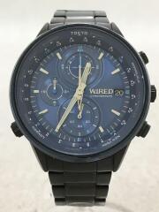 VK67-KBD0/クォーツ腕時計/アナログ/ステンレス/BLU/BLU