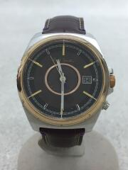 ソーラー腕時計/アナログ/レザー/BRW/BRW/H416-S084652