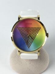 クォーツ腕時計/アナログ/ラバー/マルチカラー/WHT/W1161G5