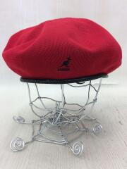 ベレー帽/L/ポリエステル/RED