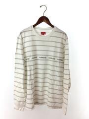 長袖Tシャツ/M/コットン/WHT/ボーダー