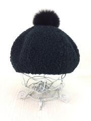 ベレー帽/--/アクリル/BLK
