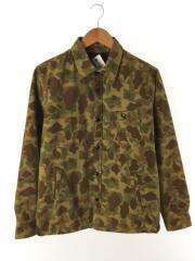 ダウンシャツ/長袖シャツ/M/コットン/KHK/カモフラ/NUC44DW0673TS