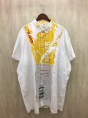 長袖シャツ/M/コットン/ホワイト/18SS/×DHL/Short Sleeve Shirt/
