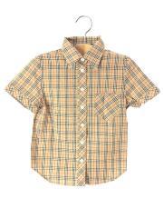 長袖シャツ/130cm/コットン/BEG/チェック