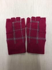 手袋/ウール/PNK/チェック