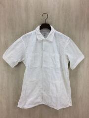 半袖シャツ/M/コットン/ホワイト/Dayton Shirts/チェーン刺繍/