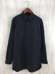 長袖シャツ/2/コットン/ブラック/ブロード生地/環縫い/