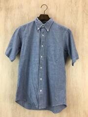 半袖シャツ/14.5/コットン/ブルー/シャンブレーシャツ/
