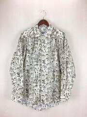定番ペインターシャツ/長袖シャツ/M/コットン/アイボリー/ギャザー