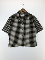 半袖シャツ/2/コットン/ブラック/ギンガムチェック/20SS/NATURAL COTTON/