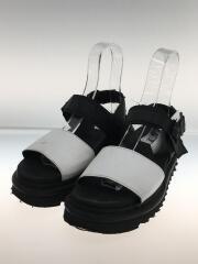 サンダル/UK5/ブラック/バイカラー/ホワイト/シャークソール/