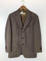 イタリア製テーラードジャケット/50/ウール/ブラウン/チェック