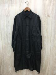 HW-B08-201/18SS/ストライプ スタッフシャツA長袖シャツ/3/ブラック/ストライプ