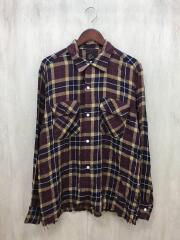 長袖シャツ/L/レーヨン/チェック/カットオフ/19SS/Cut-Off Bottom Classic Shirt