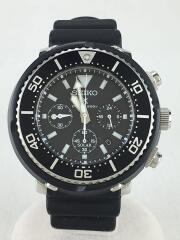 クォーツ腕時計/アナログ/ラバー/ブラック/×PROSPEX/Diver Scuba Limited Ed