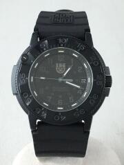 クォーツ腕時計/アナログ/ラバー/ブラック/ダイバーズウォッチ/3000/3900/ケース付属/