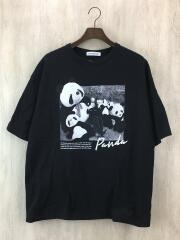 TETSUKO/Tシャツ/L/コットン/ブラック/ゴシップT/黒柳徹子/パンダ/プリントT/PAND