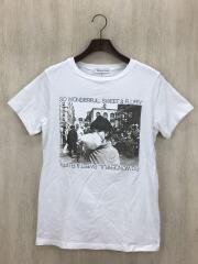 TETSUKO/Tシャツ/M/コットン/ホワイト/ゴシップT/黒柳徹子/プリント/T-003/