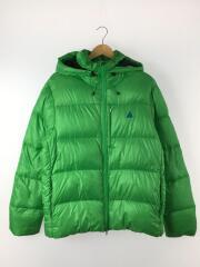 ダウンジャケット/XL/ナイロン/グリーン/347826-365/モンスターパーカ/襟袖汚れ/