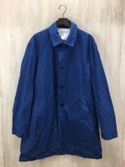 ステンカラーコート/--/コットン/ブルー/E-13100/サクラコート/サイズSL/日本製