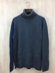 切替/タートルネック/13aw/セーター(薄手)/3/ウール/ブルー