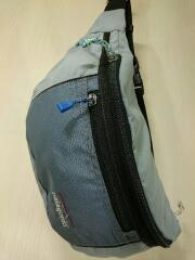 ウエストバッグ/ポリエステル/GRY/※汚れ、内側劣化有り