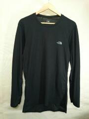 L/S AIR CREW/長袖Tシャツ/XL/ポリエステル/BLK/NU65115