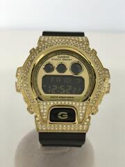 G-SHOCK/ジーショック/ゴールドラインストーン/クォーツ腕時計/デジタル/ラバー/GLD