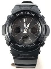 ソーラー腕時計・G-SHOCK/FIRE PACKAGE/ジーショック/デジアナ/BLK/GRY/箱有