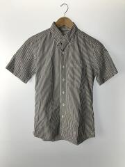 ストライプ柄半袖BDシャツ/2/コットン/BLU/ストライプ