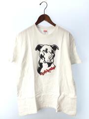 PITBULL TEE/ピットブル/Tシャツ/M/コットン/WHT/ロゴプリント