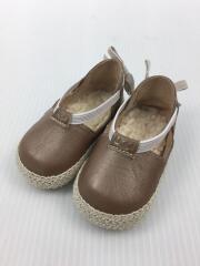 ESTEE/フラットバレエシューズ/キッズ靴/11cm/--/レザー/BRW/1002221