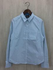 ディオーサチェックロングスリーブシャツ/長袖シャツ/XL/ポリエステル/BLU/G56957005