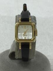 クォーツ腕時計/アナログ/--/WHT/BLK/Y150-0BN0