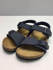 キッズ靴/18cm/サンダル/レザー/NVY