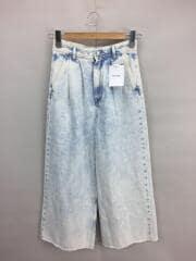 19SS/Wide-Leg Acid-Wash/S32KA0577/S30ワイドパンツ/36/デニム/ブルー
