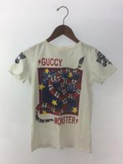 Monster/モンスター/半袖カットソー/プリントTシャツ/10/コットン/ホワイト/プリント