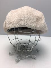 ボアベレー帽//アクリル/BEG