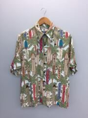80-90s/ダイアモンドヘッドタグ/アロハシャツ/M/レーヨン/マルチカラー