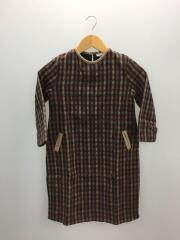 TUCHINDA/VELLA DRESS/132cm/ウール/BRW/チェック/
