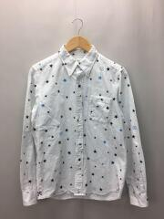 STAR PRINT OXFORD B.D SHIRT/2/コットン/WHT/UE-120027