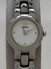 クォーツ腕時計/アナログ/ステンレス/WHT/SLV/V400-1130